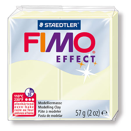 Staedtler Fimo Effect - polymer clay - block 56g - glow in the dark