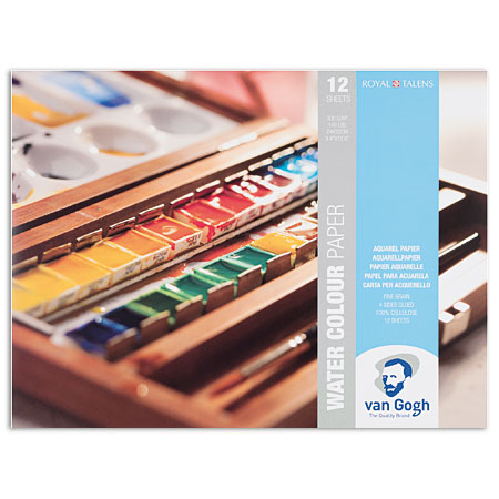 Talens Van Gogh - watercolour pad - 12 sheets 300g/m² - 4 sides glued - cold pressed