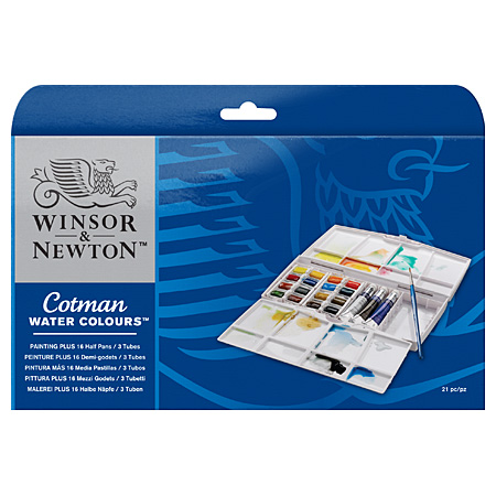 Winsor & Newton Cotman - PLUS - fine watercolour - plastic box